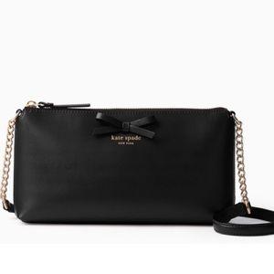 Kate Spade ♠️ NWT Black Bow Crossbody Bag